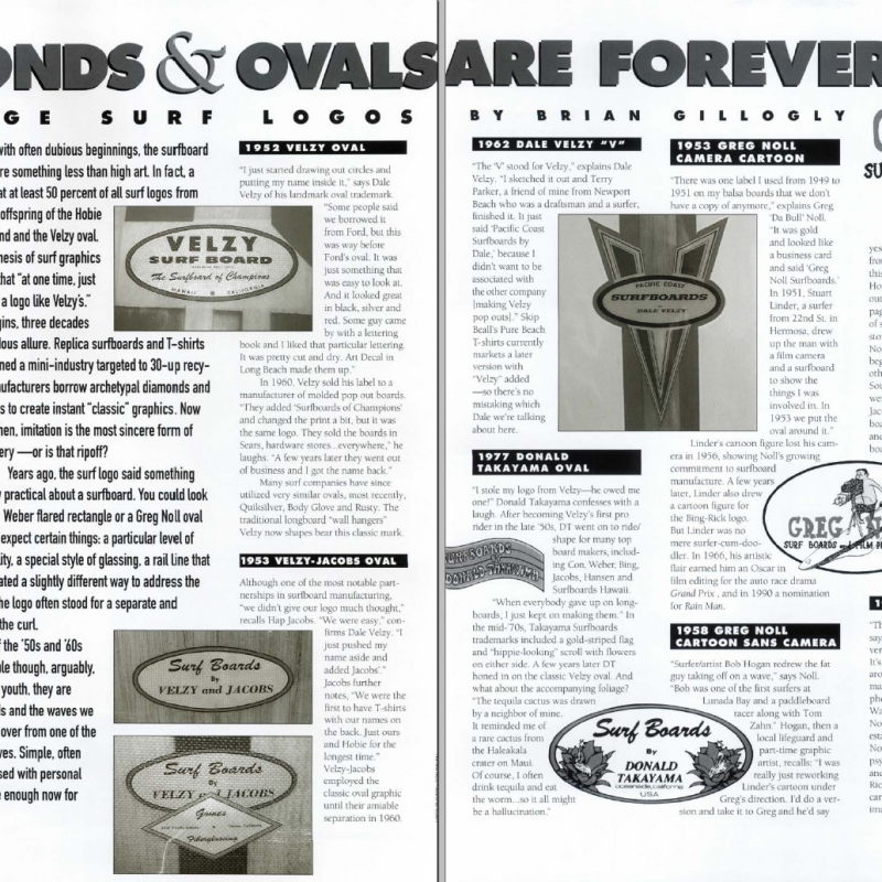 Ovals and Diamonds Are Forever