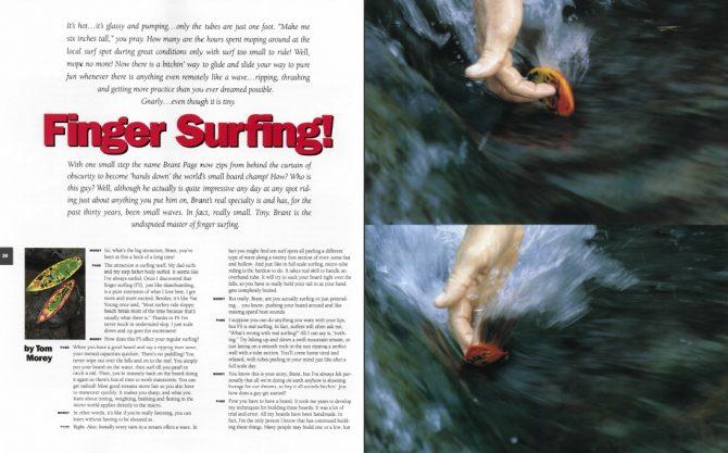 Finger Surfing!