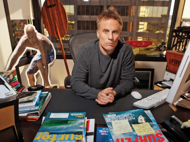 """Terry Hardy says that his clients like Kelly Slater are """"companies"""" unto themselves and need management to represent them accordingly. Photo: Joe Scarnici"""