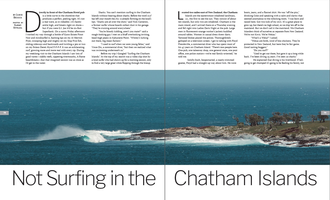 Not Surfing In The Chatham Islands The Surfers Journal